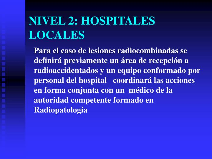 NIVEL 2: HOSPITALES LOCALES