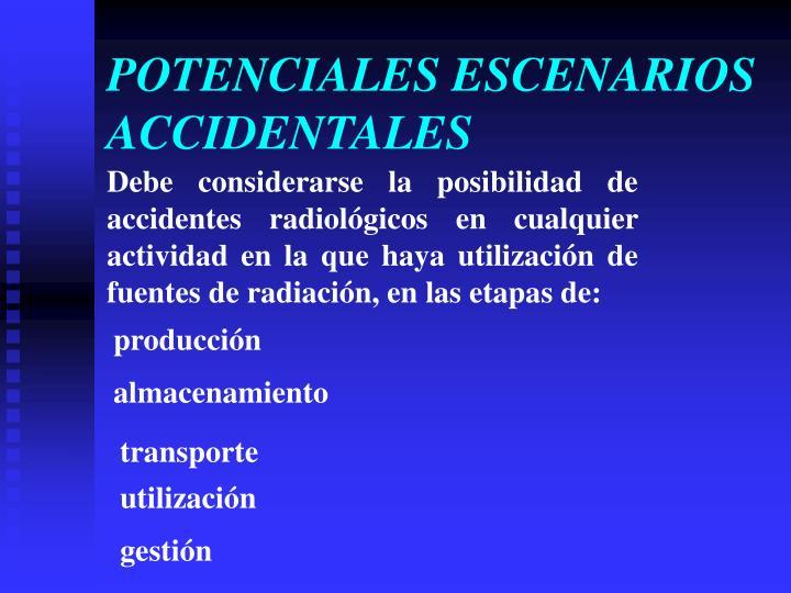 POTENCIALES ESCENARIOS ACCIDENTALES