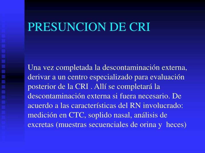 PRESUNCION DE CRI