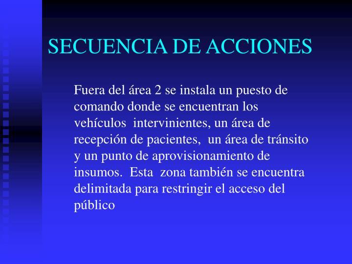 SECUENCIA DE ACCIONES