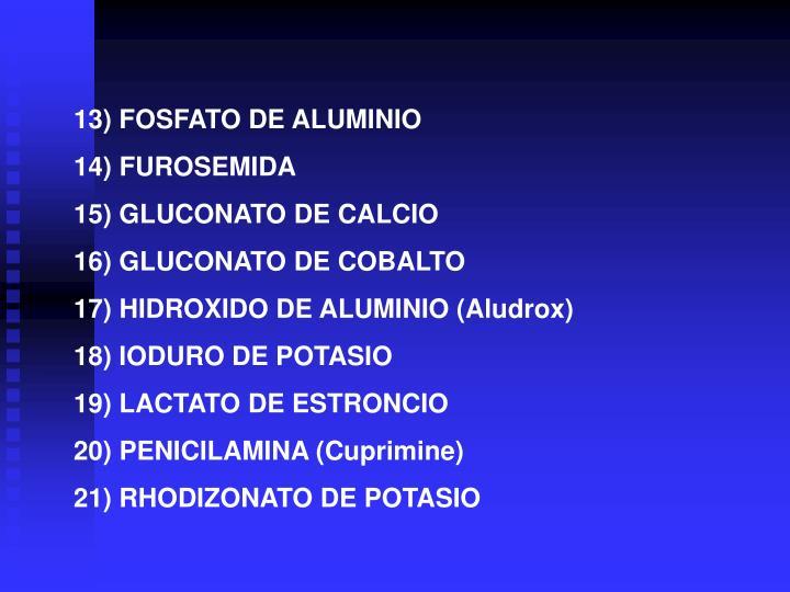 13) FOSFATO DE ALUMINIO
