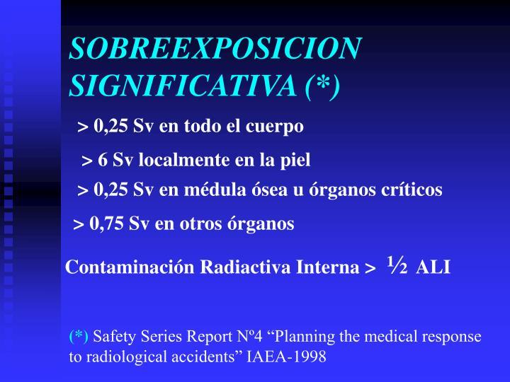 SOBREEXPOSICION SIGNIFICATIVA (*)