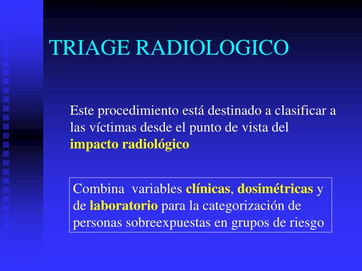 TRIAGE RADIOLOGICO