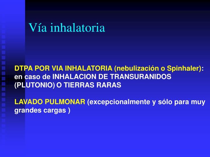 Vía inhalatoria