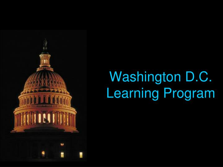 Washington d c learning program
