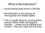 what is normalization