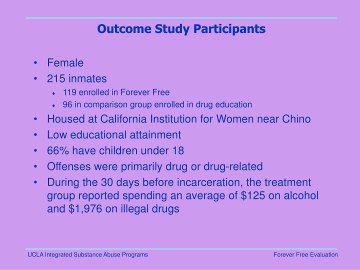 Outcome Study Participants