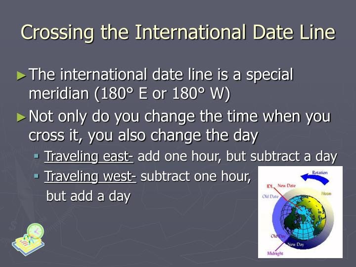 Crossing the International Date Line