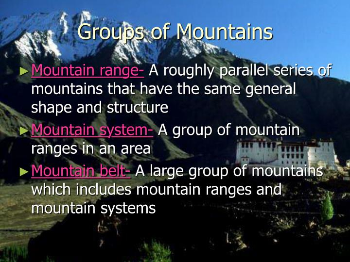 Groups of Mountains