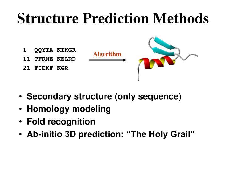 Structure Prediction Methods