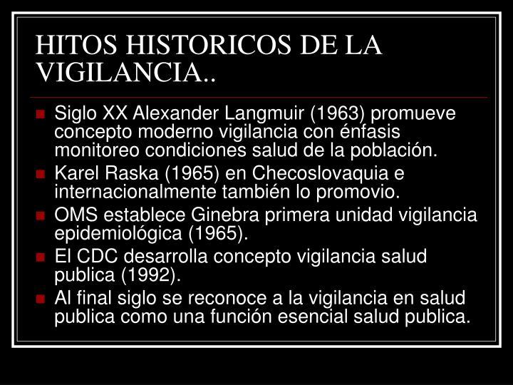 HITOS HISTORICOS DE LA VIGILANCIA..