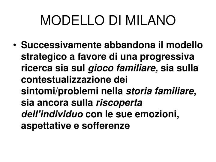 MODELLO DI MILANO