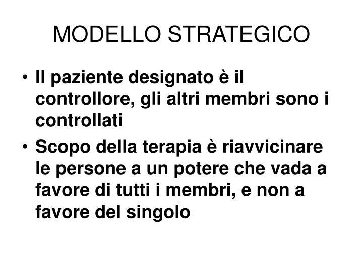 MODELLO STRATEGICO