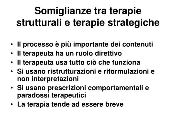 Somiglianze tra terapie strutturali e terapie strategiche