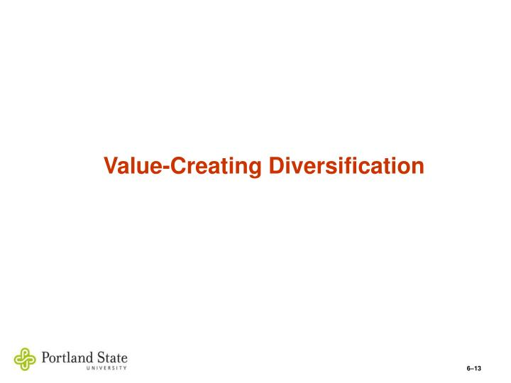 Value-Creating Diversification