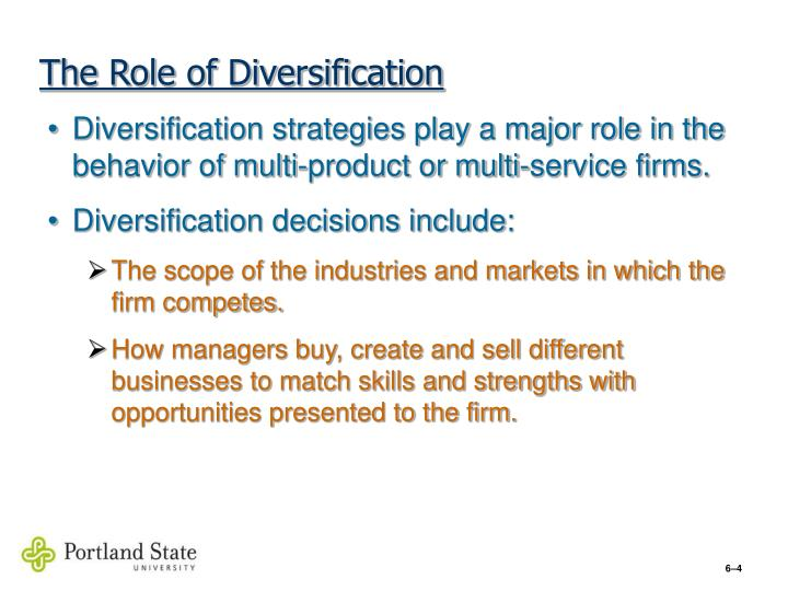 The Role of Diversification