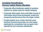 unrelated diversification internal capital market allocation