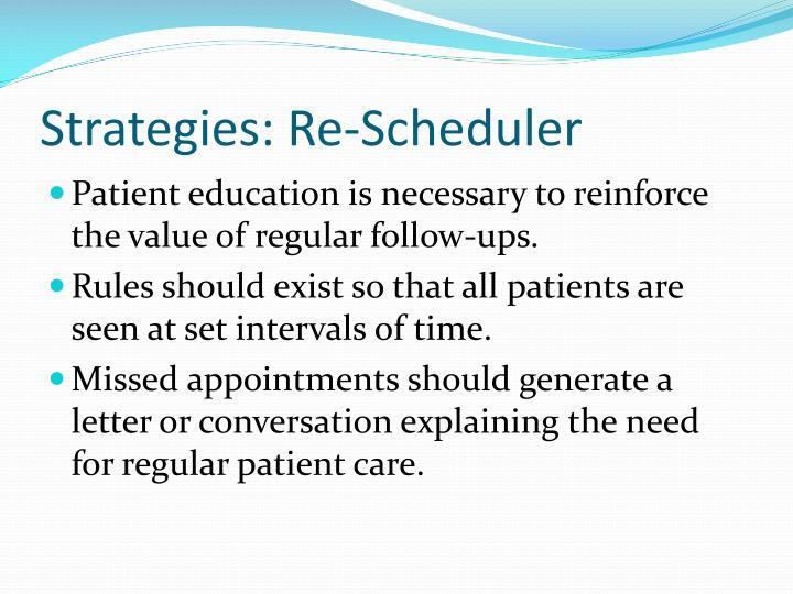 Strategies: Re-Scheduler
