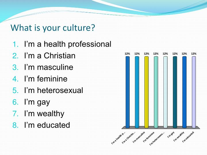 What is your culture?