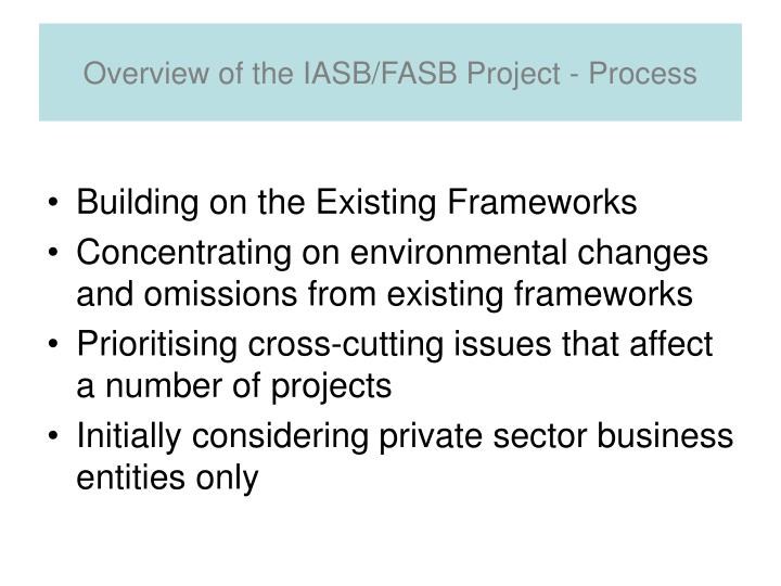 Overview of the IASB/FASB Project - Process