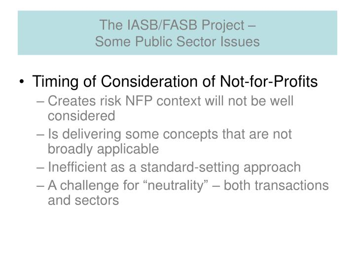 The IASB/FASB Project –