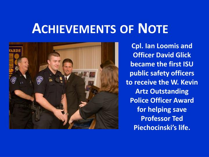 Achievements of Note