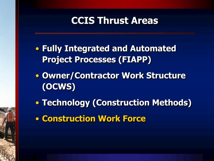 CCIS Thrust Areas