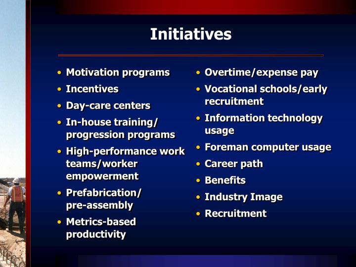 Motivation programs