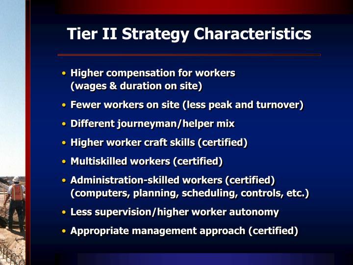 Tier II Strategy Characteristics