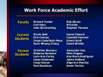 work force academic effort