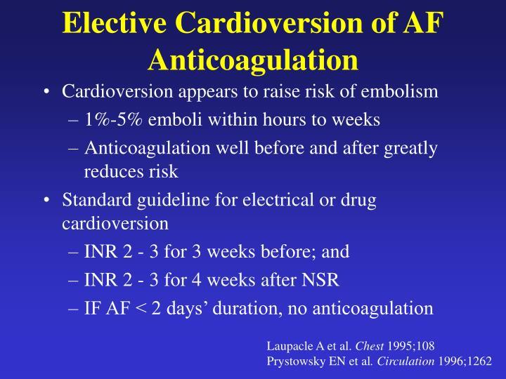 Elective Cardioversion of AF