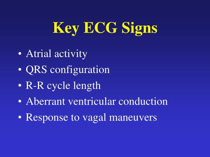 Key ECG Signs