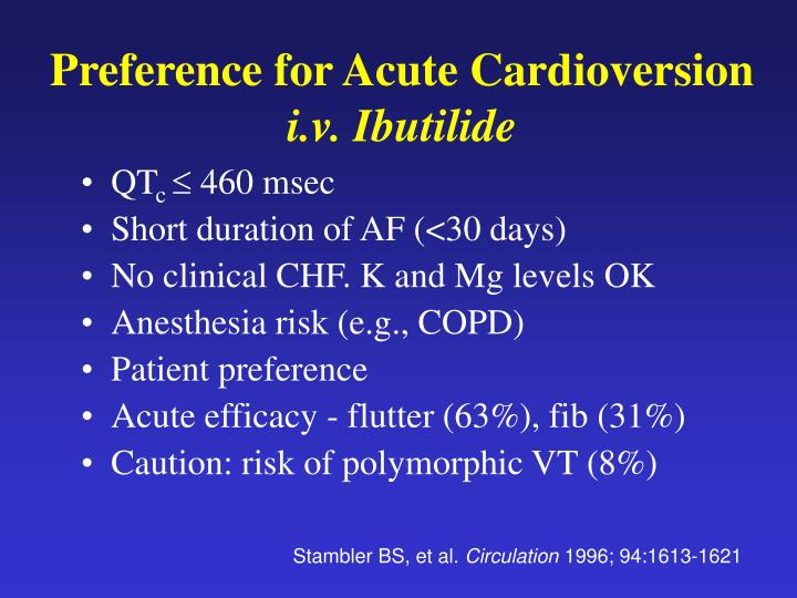 Preference for Acute Cardioversion