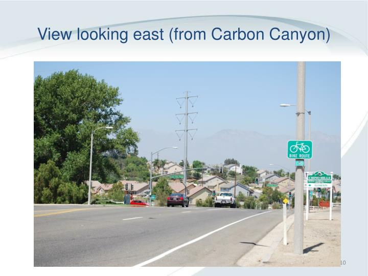 View looking east (from Carbon Canyon)