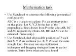 mathematics task