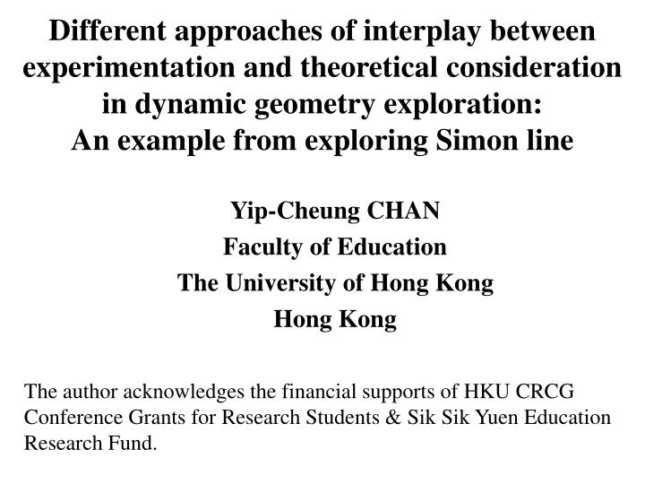 Different approaches of interplay between experimentation and theoretical consideration in dynamic geometry exploration: