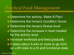 practical feed management