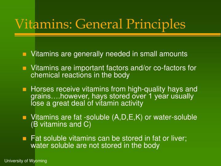 Vitamins: General Principles