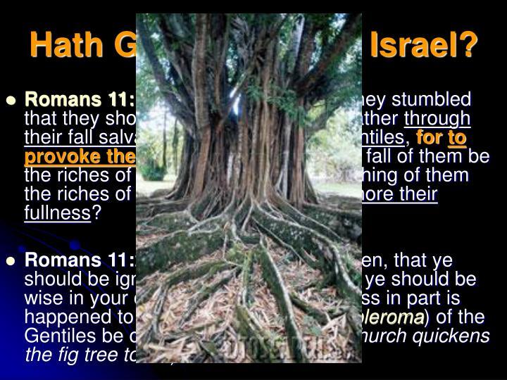 Hath God Cast Away Israel?