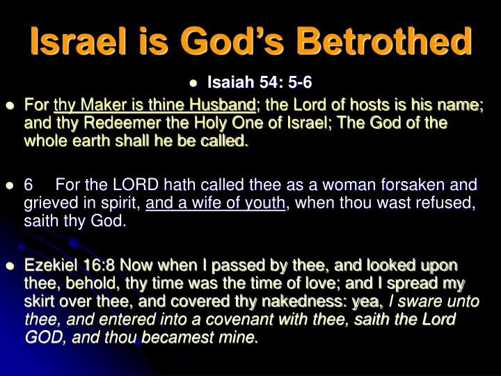 Israel is God's Betrothed