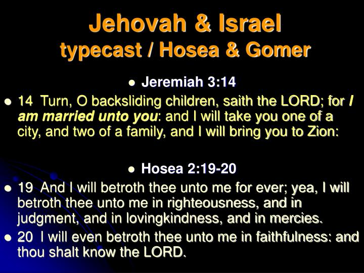 Jehovah & Israel
