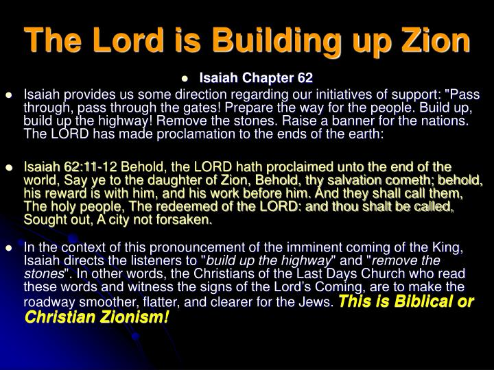 The Lord is Building up Zion