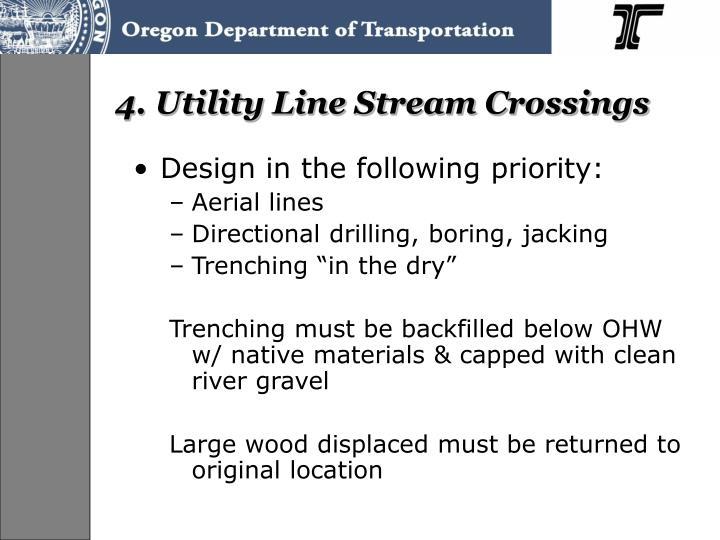 4. Utility Line Stream Crossings