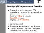 concept of programmatic permits