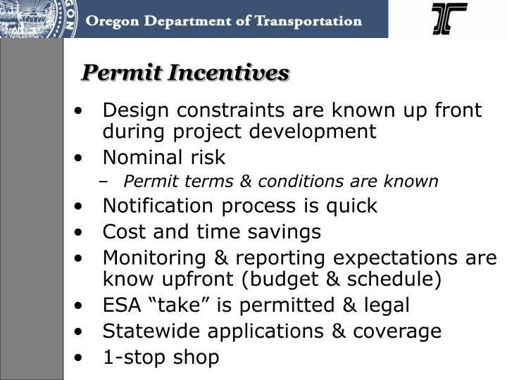 Permit Incentives