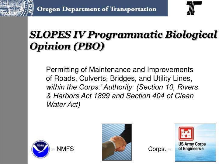 SLOPES IV Programmatic Biological Opinion (PBO)