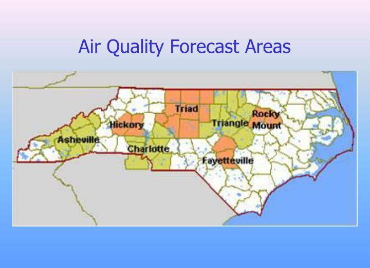 Air Quality Forecast Areas