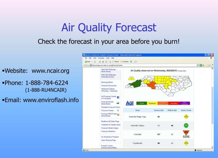 Air Quality Forecast