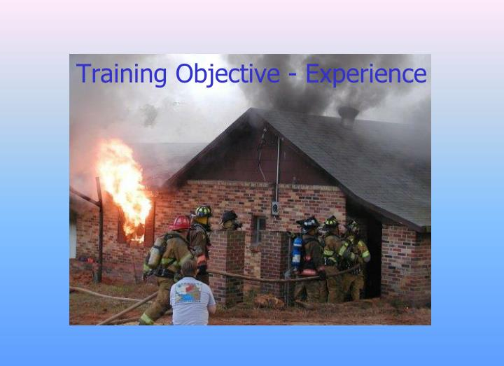 Training Objective - Experience