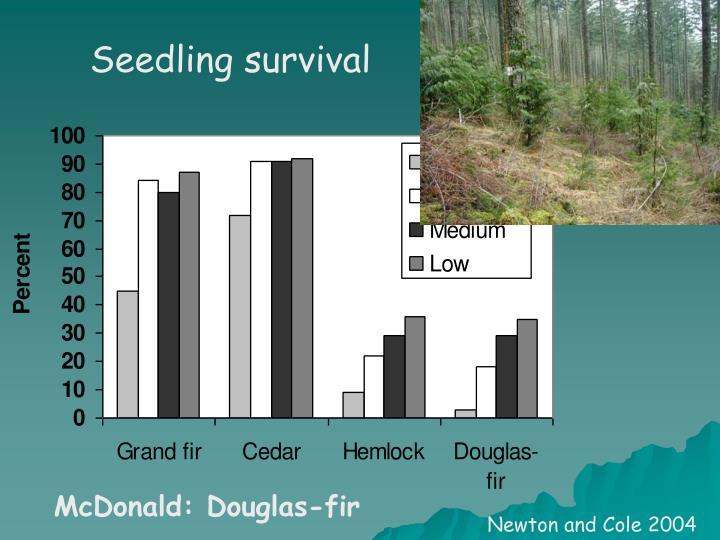 Seedling survival